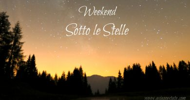 Weekend Sotto le Stelle ad Aprile 2018